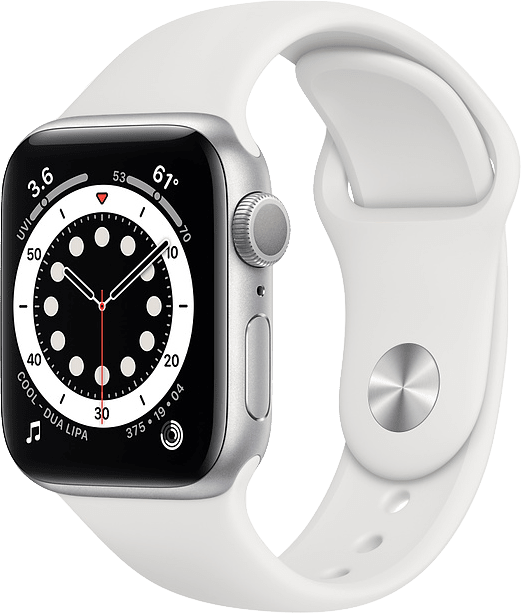 White Apple Watch Series 6 GPS, 40mm Aluminium case, Sport band.1