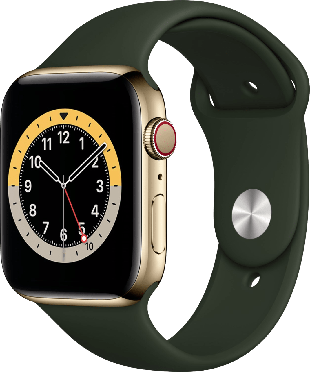 Cyprus green Apple Watch Series 6 GPS + Cellular , 44mm Stainless steel case, Sport band.1