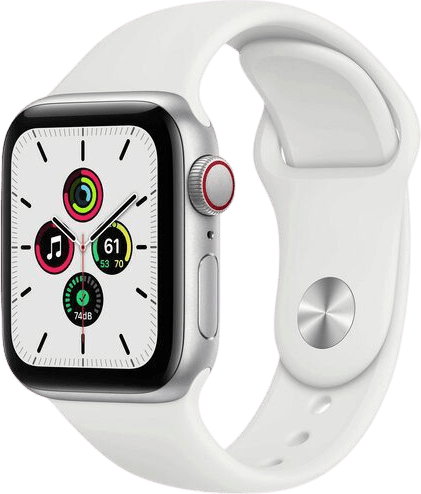 White Apple Watch SE GPS + Cellular, 40mm Aluminium case, Sport band.1