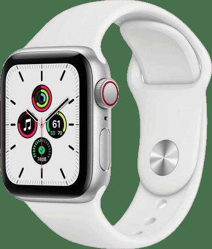 Weiß Apple Watch SE GPS + Cellular, 40-mm-Aluminium-Gehäuse, Sportarmband.1
