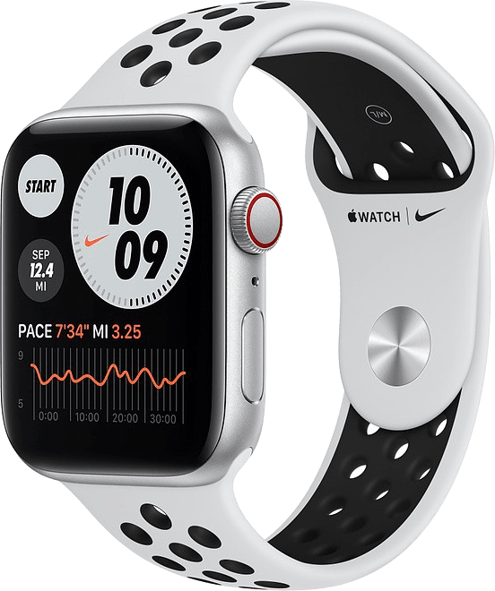 Platinum/black Apple Watch Nike SE GPS + Cellular, 40mm.1