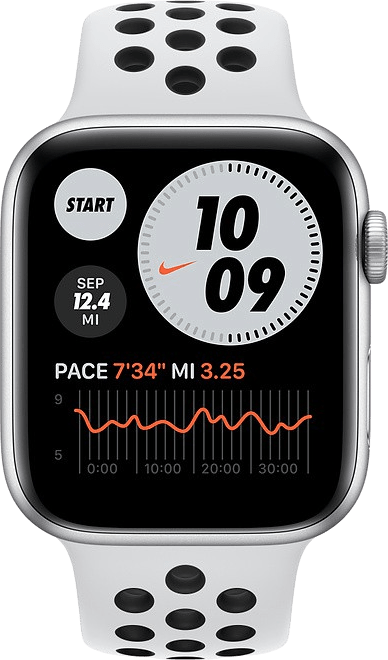 Platinum/black Apple Watch Nike SE GPS, 44mm.2