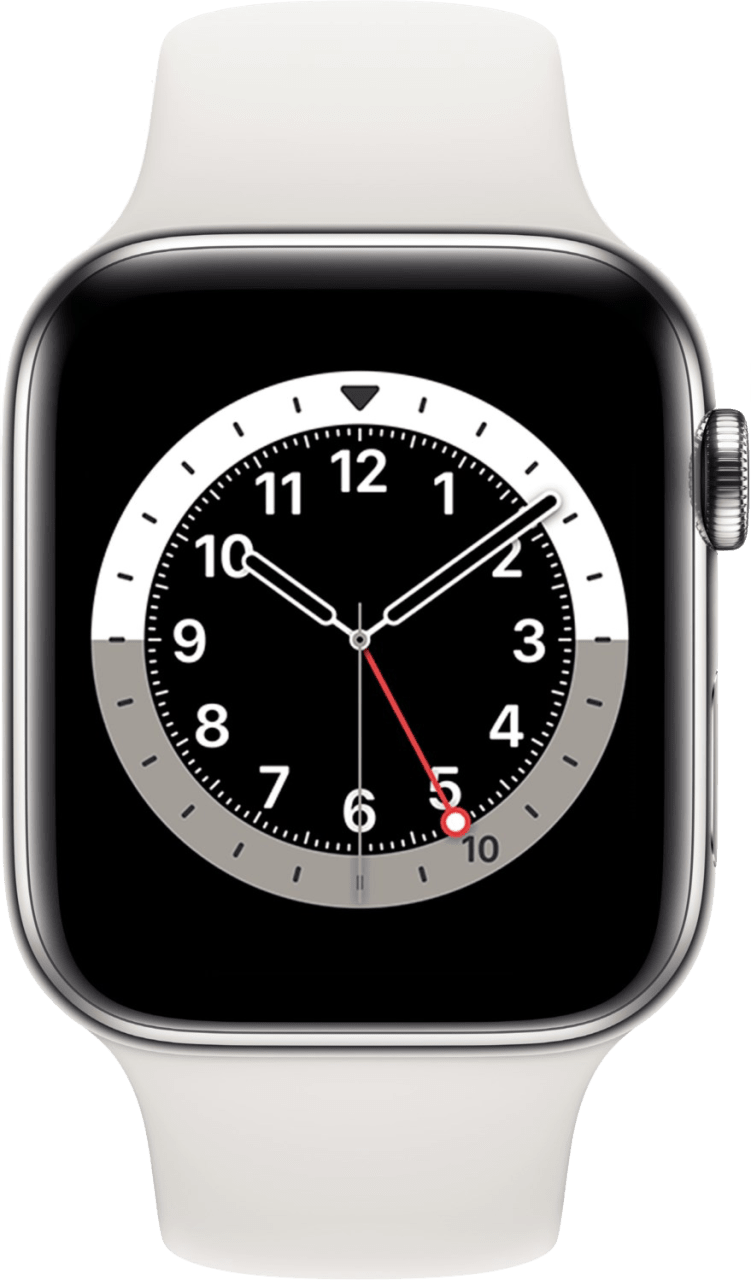Weiß Apple Watch Series 6 GPS + Cellular , 40mm.2