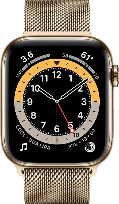 Gold Apple Watch Series 6 GPS + Cellular , 44mm Stainless steel case, Milanaise Loop.2