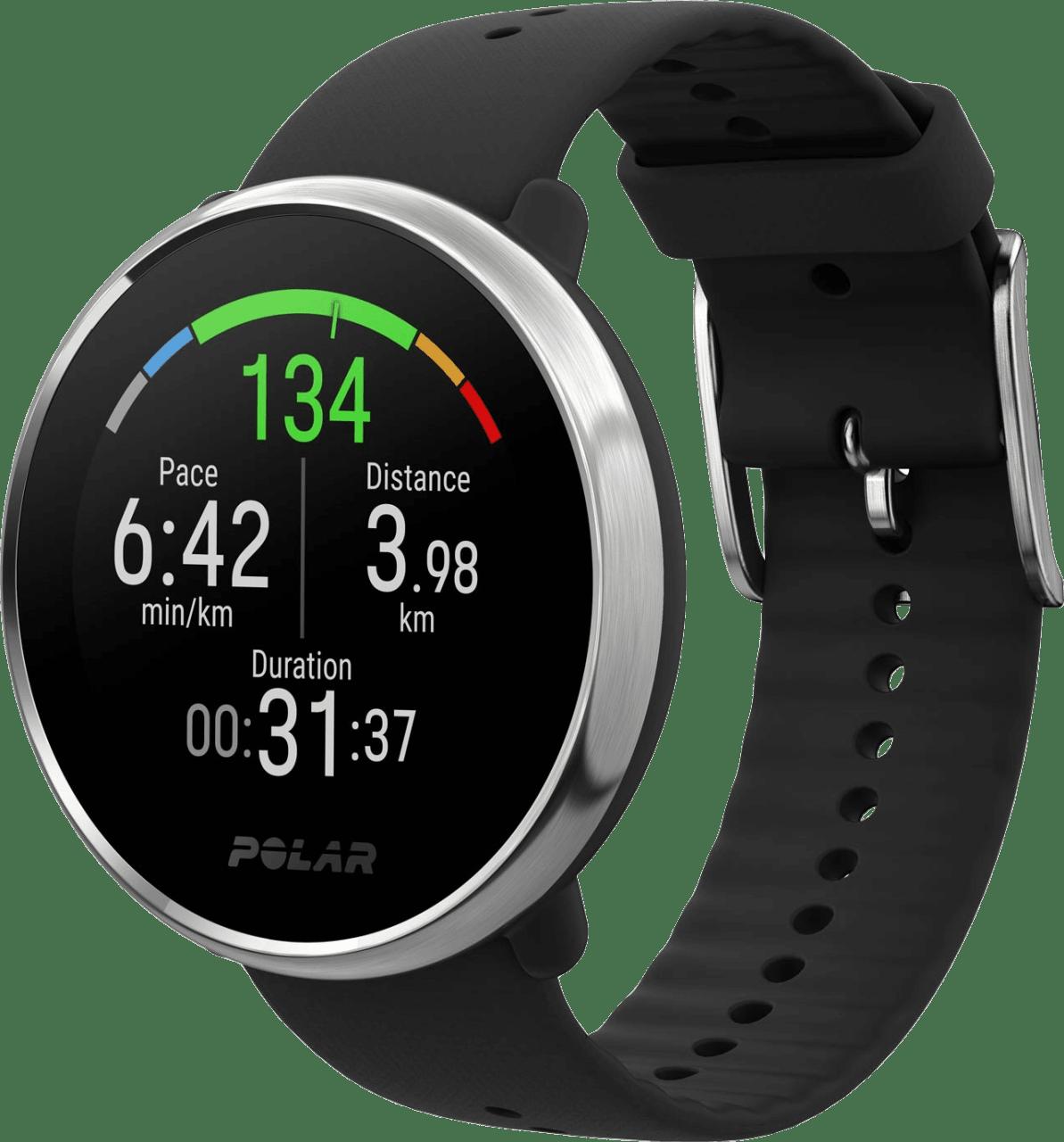 Black & silver Polar Ignite GPS Sports watch, M/L.1