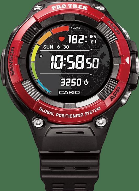 Rojo / ] Casio Pro Trek Smart WSD-F21 GPS Sports watch.1