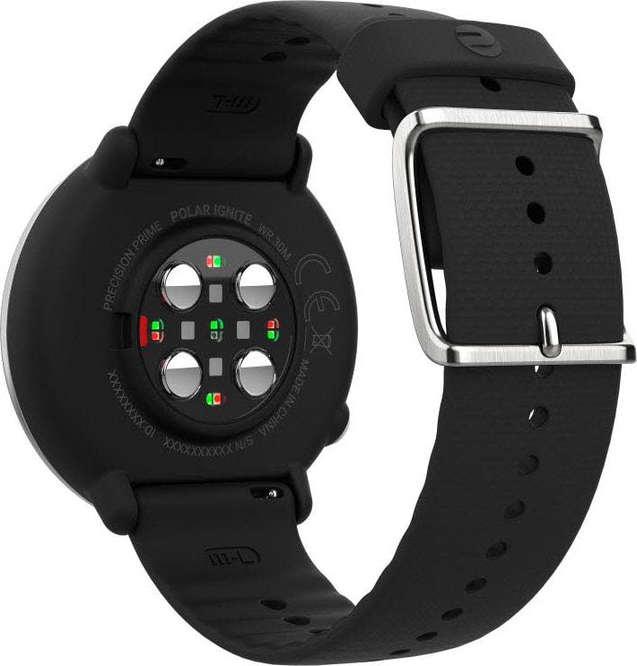 Black & silver Polar Ignite GPS Sports watch, M/L.3