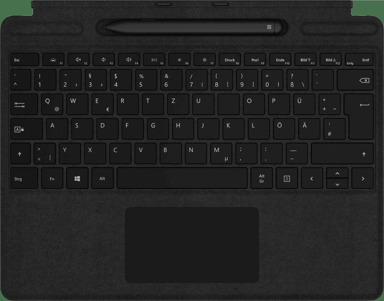 Black Microsoft Surface Pro X Signature Keyboard and Slim Pen.1