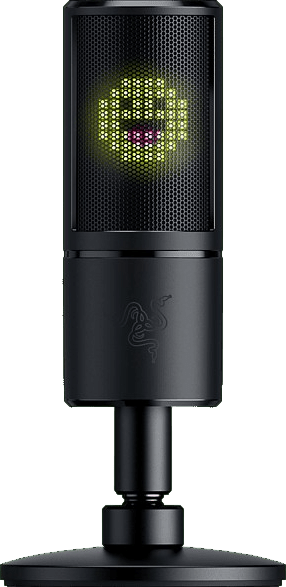 Black Razer Seiren Emote Gaming Microphone.1