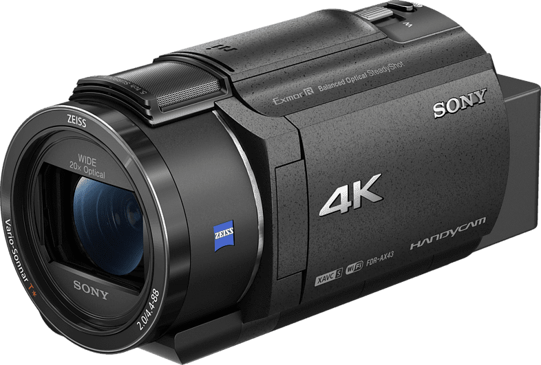 Black Sony FDR-AX43 Zeiss Compact Ultra HD Camcorder.1