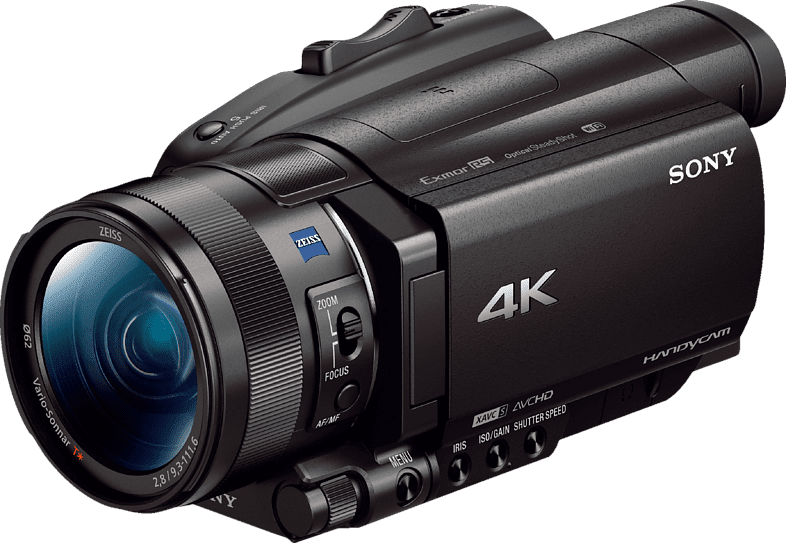 Black Sony FDR-AX700 Zeiss 4K Camcorder.1