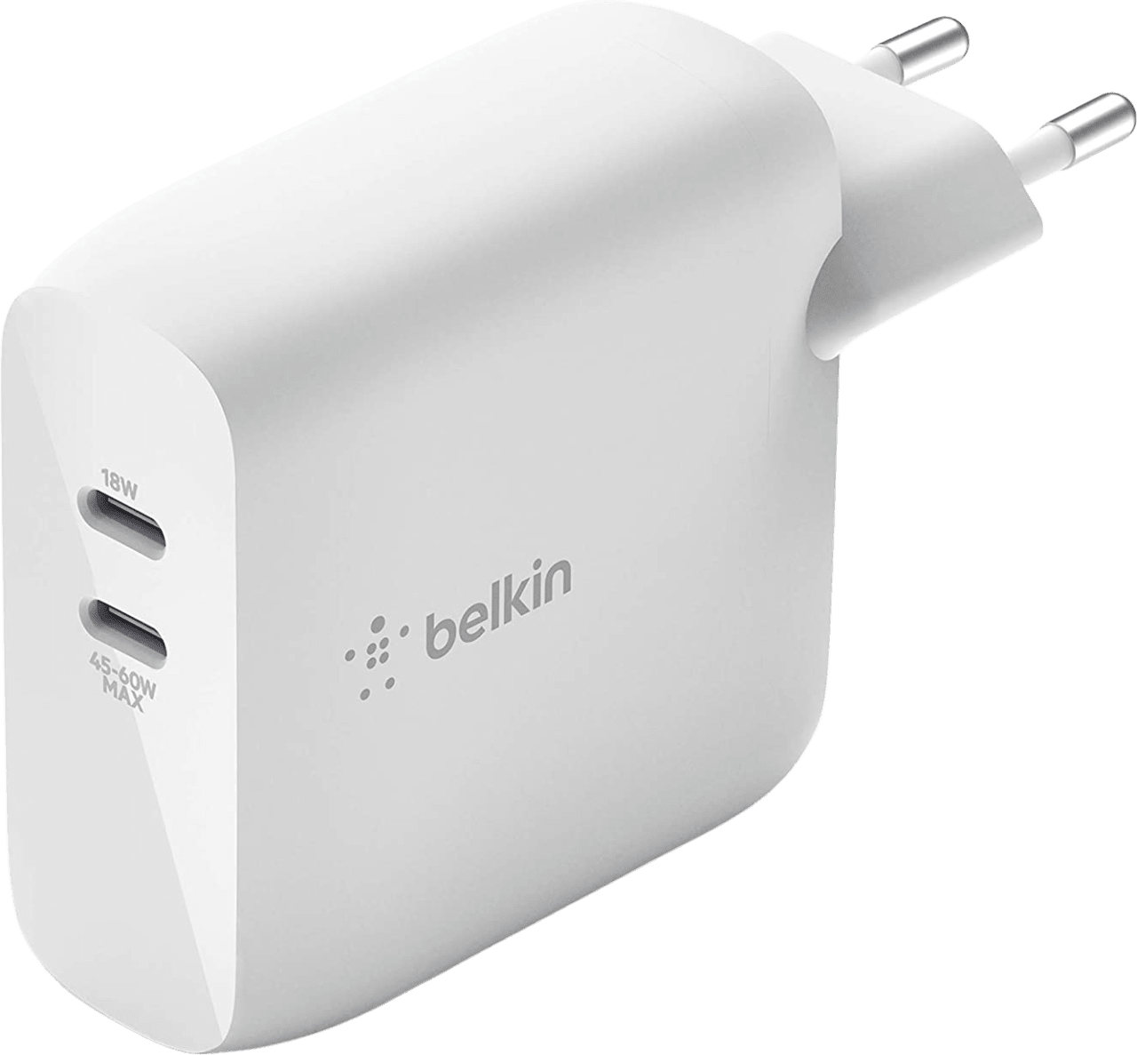 White Belkin Boostcharge GaN power supply.1
