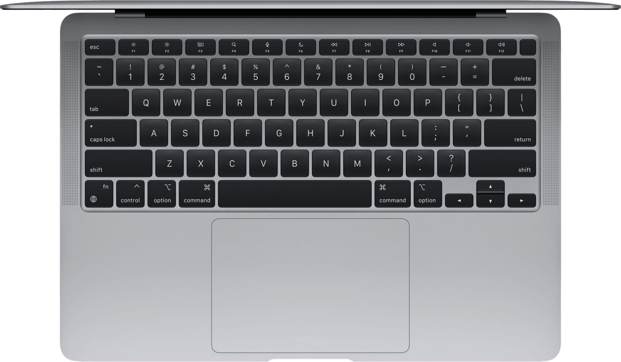 Space Grey Apple MacBook Air (Late 2020) - English (QWERTY) Laptop - Apple M1 - 8GB - 512GB SSD - Apple Integrated 8-core GPU.3