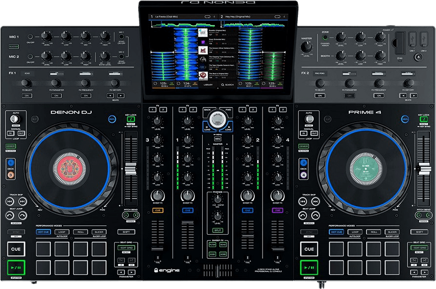 Schwarz Denon DJ Prime 4 All in one DJ controller.2
