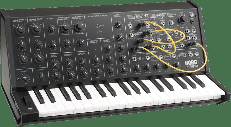 Schwarz Korg MS-20 mini Monophoner Analog-Synthesizer.2