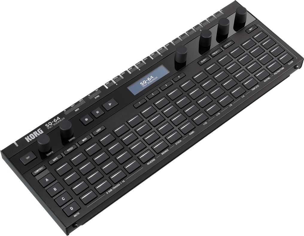 Black Korg SQ-64 Polyphonic Step Sequencer.2