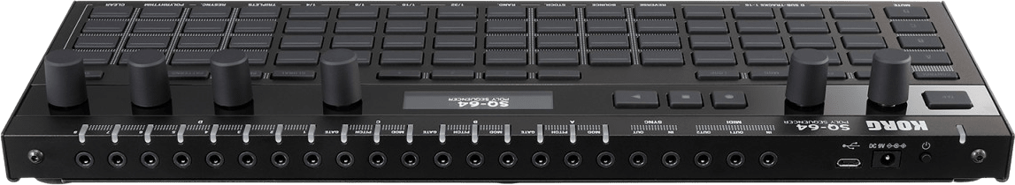 Black Korg SQ-64 Polyphonic Step Sequencer.3
