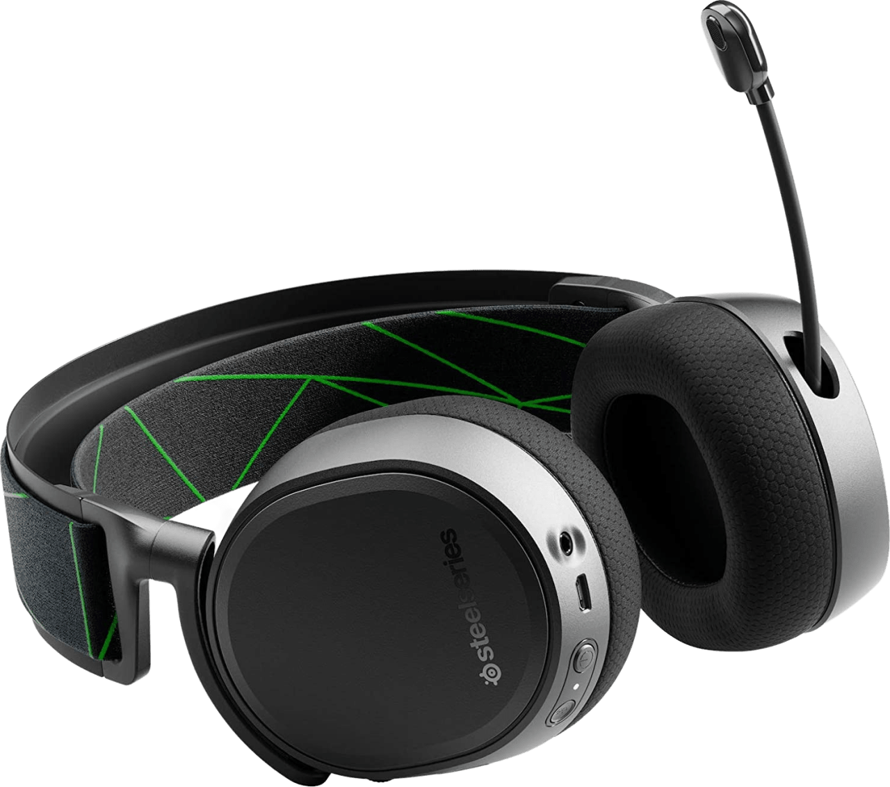 Schwarz Steelseries Arctis 9X Over-Ear-Gaming-Kopfhörer.2