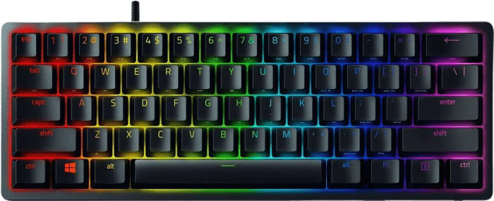 Black Razer Huntsman Mini - Clicky Optical Switch (Purple) Keyboard.1