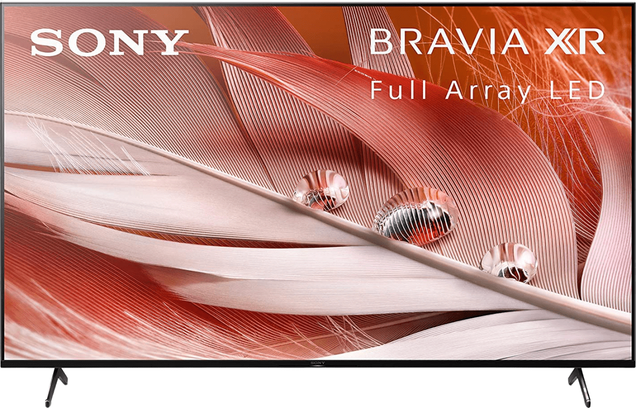 "Black Sony TV 75"" XR75X90J BRAVIA XR LED 4K UHD.1"