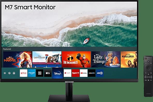 """Black Samsung - 32"""" M7 Smart Monitor S32AM704UR LS32AM704URXEN.1"""