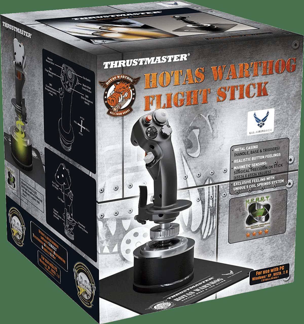 Black Thrustmaster Hotas Warthog Flight Stick.3