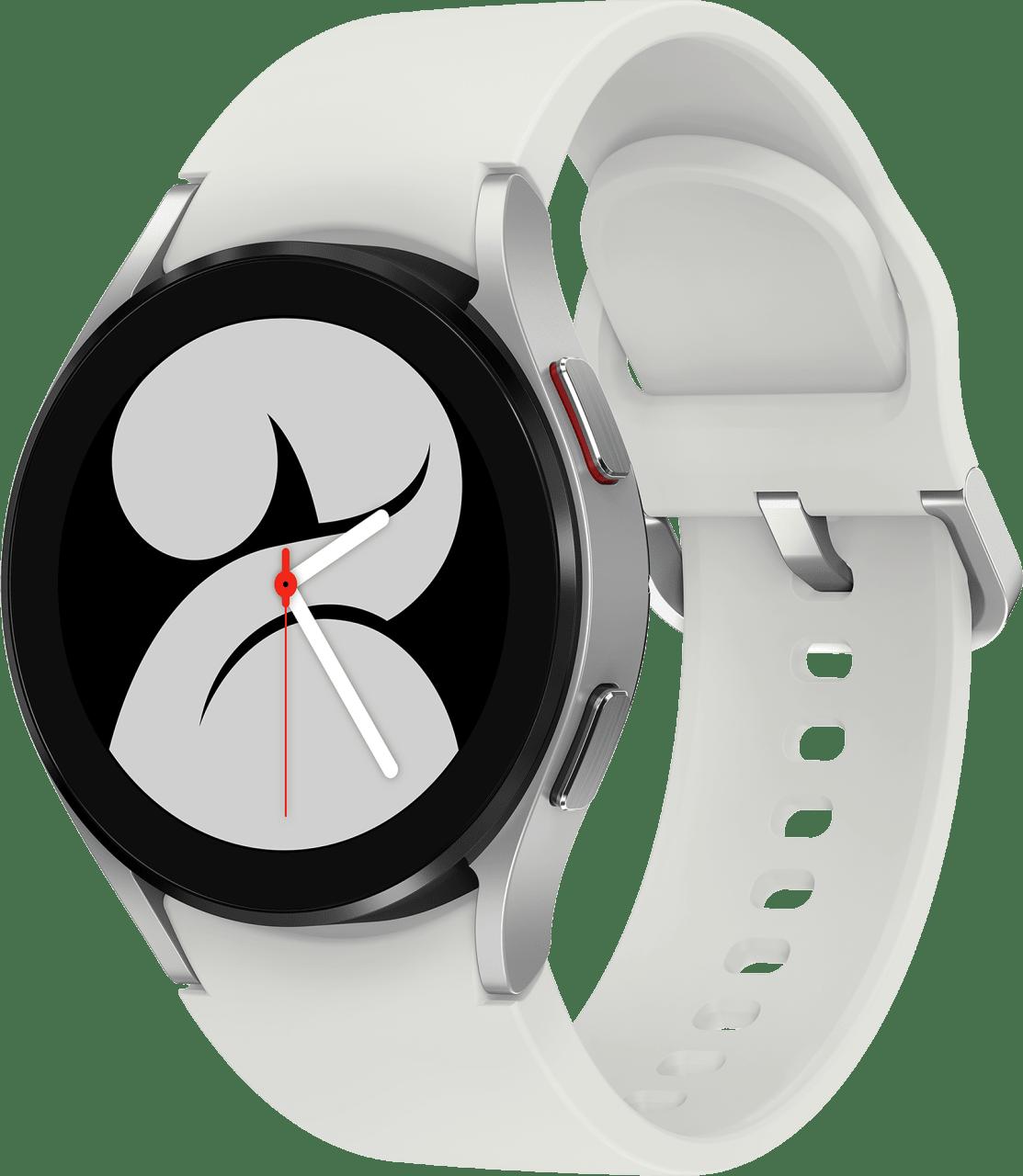 Silver Samsung Galaxy Watch4 LTE, 40mm.1