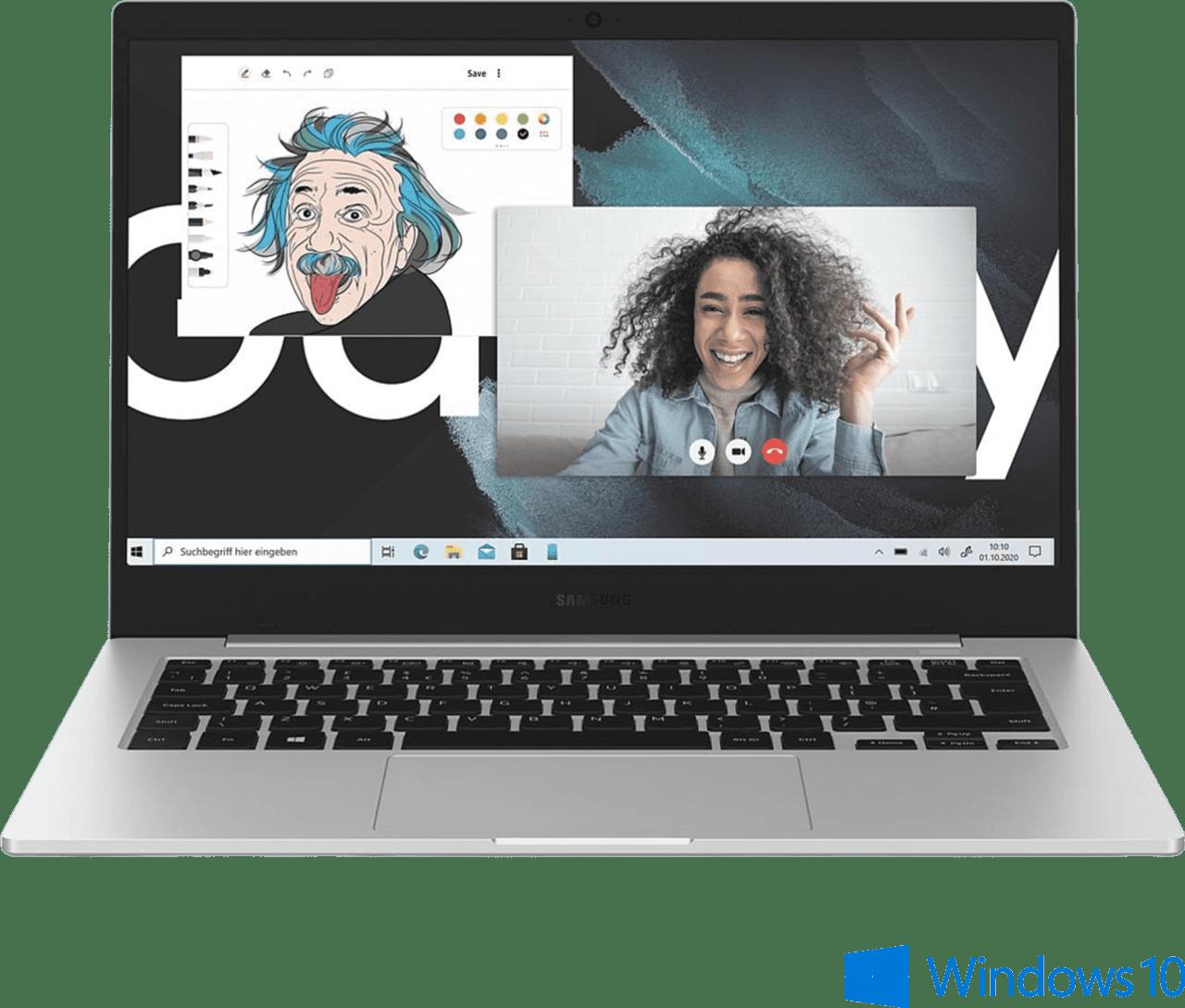 Mystisches Silber Samsung Galaxy Book Go LTE Notebook - Qualcomm 7C - 4GB - 128GB eUFS - Qualcomm® Adreno 618.2