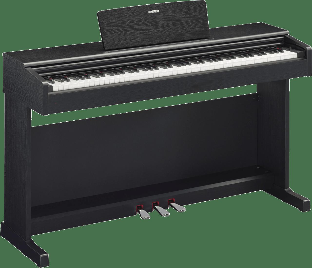 Zwart Yamaha YDP-144 digitale piano met 88 toetsen.1
