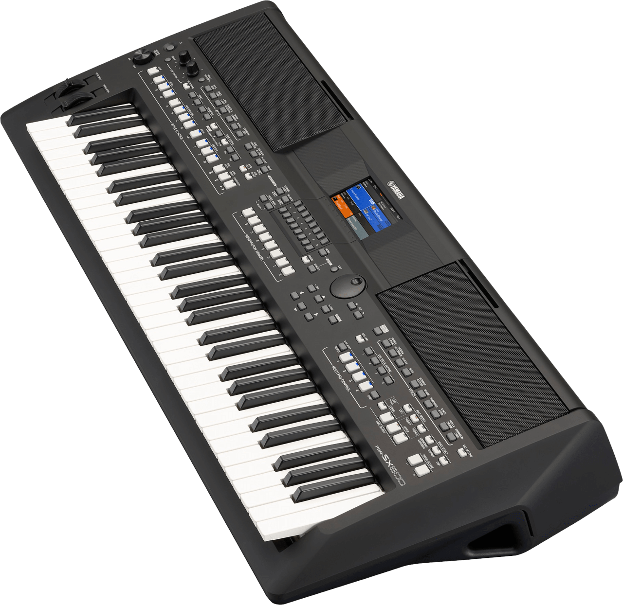 Black Yamaha PSR-SX600 61-Key Digital Workstation Piano.2