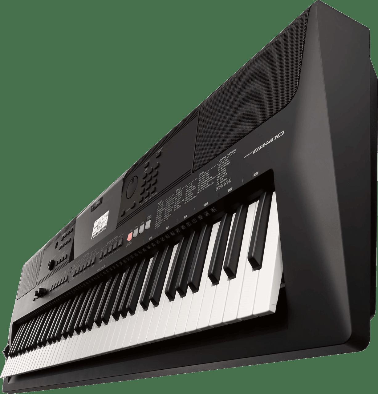 Black Yamaha PSR-EW410 76-Key Portable Keyboard.3