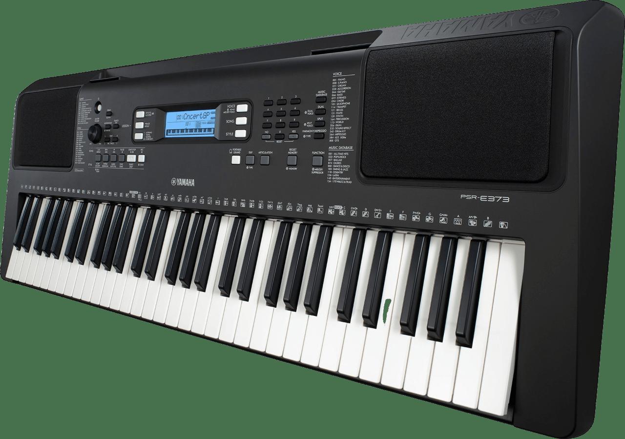Black Yamaha PSR-E373 61-Key Portable Digital Piano.3