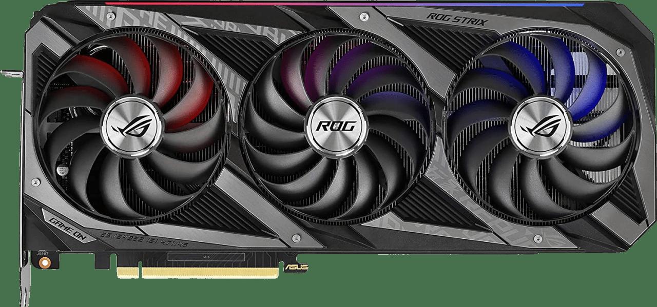 Schwarz Asus GeForce RTX 3070 Ti ROG Strix 8G LHR Grafikkarte.1