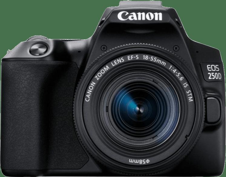 Black Canon EOS 250D System Camera + Lens Kit (EF-S 18-55mm).1