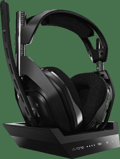 Black ASTRO Gaming A50 Wireless Headphones + Base Station, Gen 4.1
