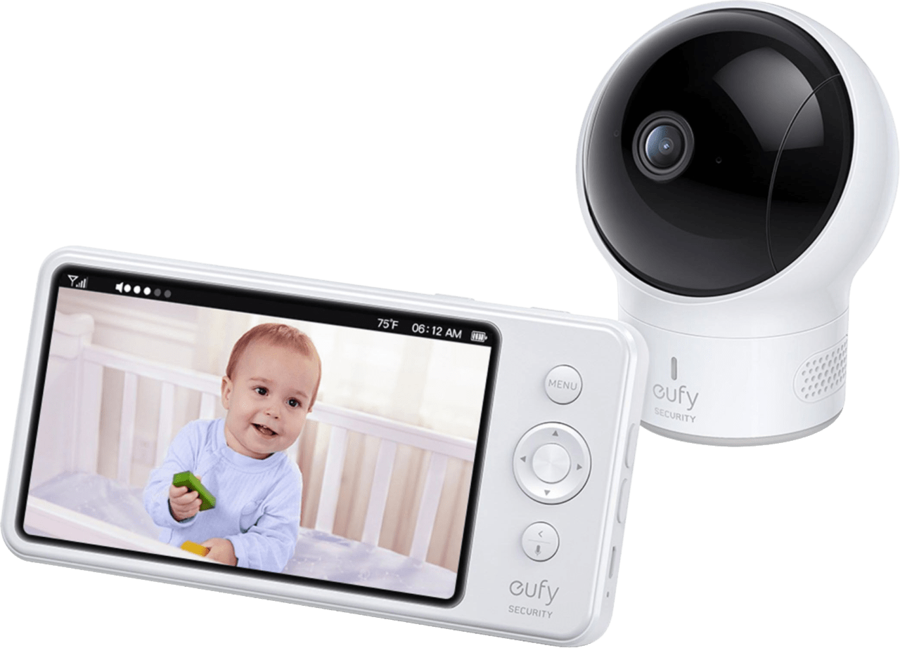 White eufy Spaceview Baby Monitor Cam Bundle.1