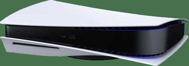 White Sony PlayStation 5.2