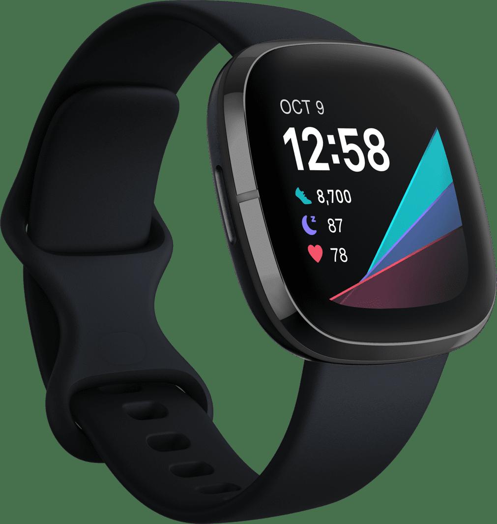 Carbon & Graphite Fitbit Sense Smartwatch.1