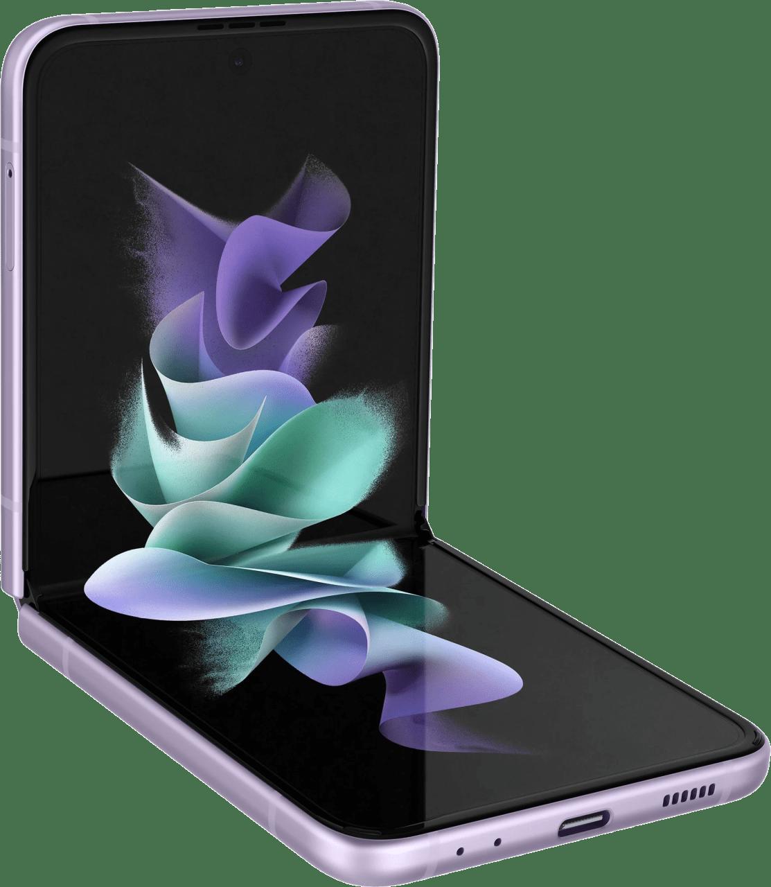 Lavender Samsung Smartphone Galaxy Flip 3 - 128GB - Single Sim.3
