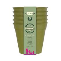 """3"""" Bamboo Pots - Sage Green"""