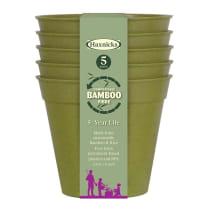 """5"""" Sage Green Bamboo Pots"""