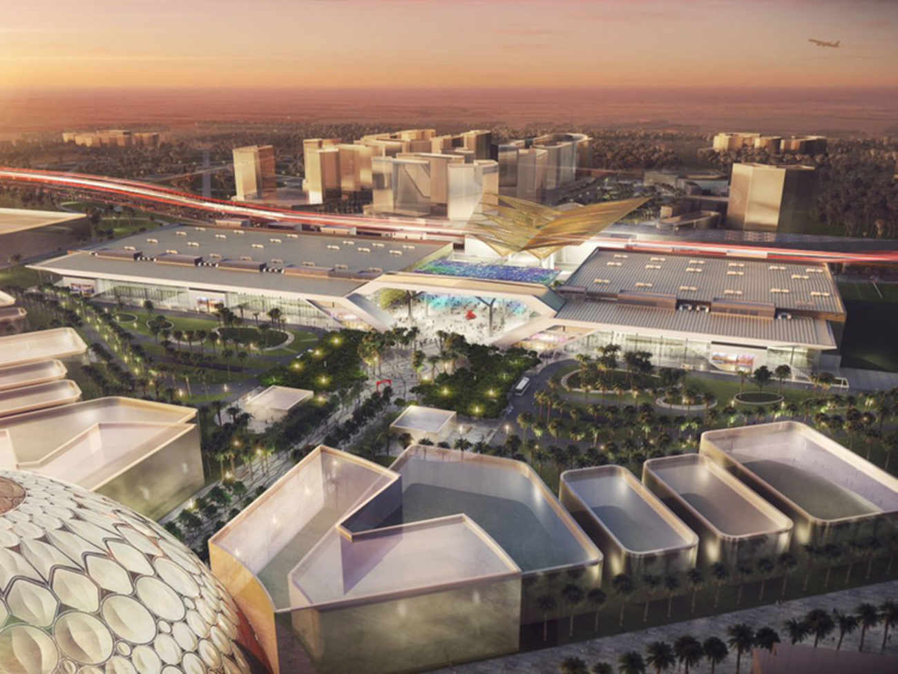 A glimpse inside the Dubai Exhibition Centre