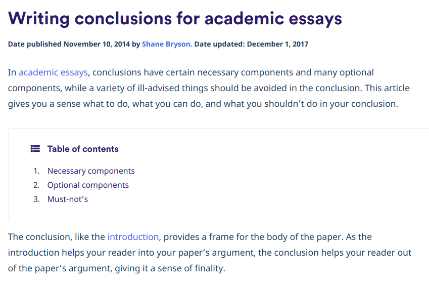 The most popular essay conclusion generator to use