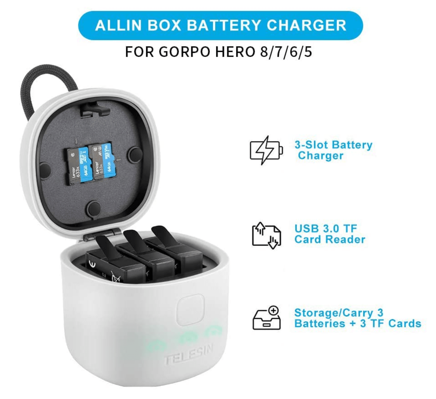 TELESIN Allin Box Battery Charger Review