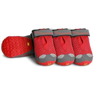 Ruffwear Grip Trex All Terrain Dog Paw Shoes 4 Pack - Red Currant