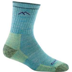 Darn Tough 1903 Womens Hiker Micro Crew Cushion Socks - Aqua Heather