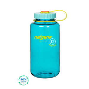 Nalgene Wide Mouth Sustain 32oz 1L Water Bottle - Cerulean