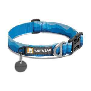 Ruffwear Hoopie Patterned Dog Collar - Blue Mountains