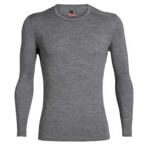 Icebreaker 260 Tech Long Sleeve Crewe - Gritstone Heather