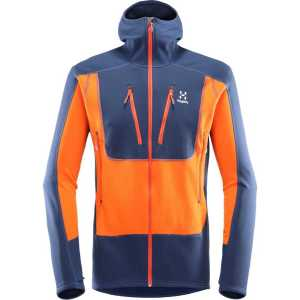 Haglofs Mens Softshell Serac Hooded Jacket - Tarn Blue/Cayenne